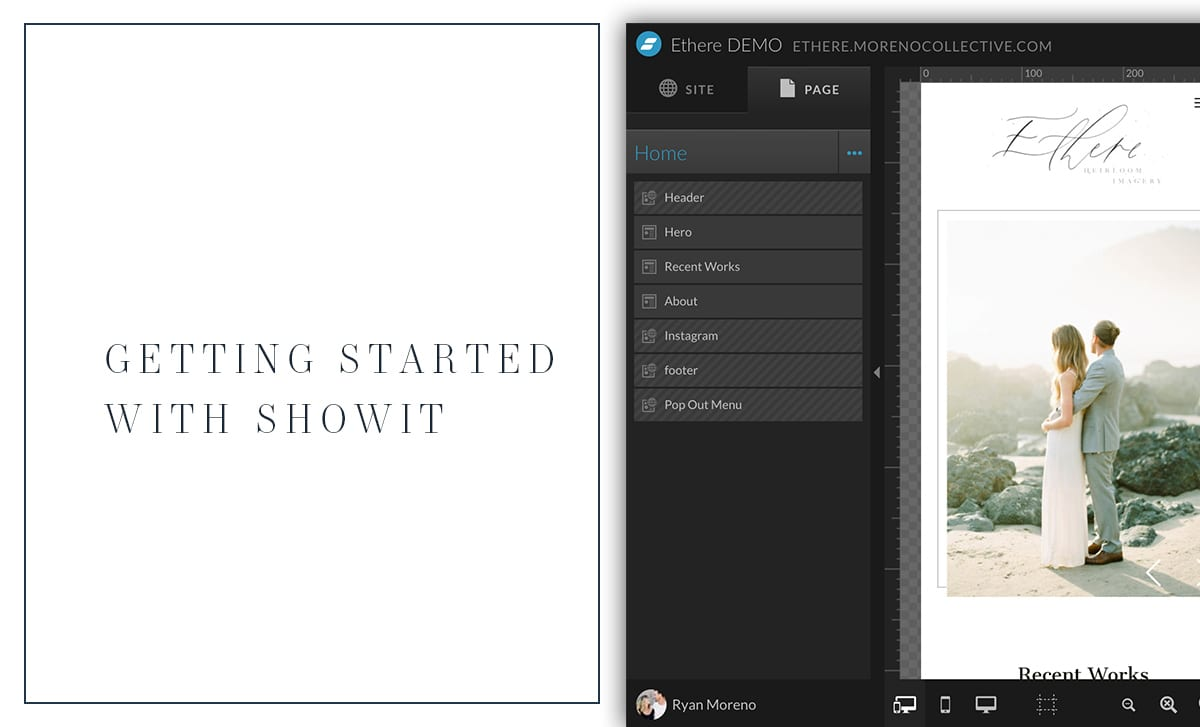 Get started with Showit website - Moreno Collective