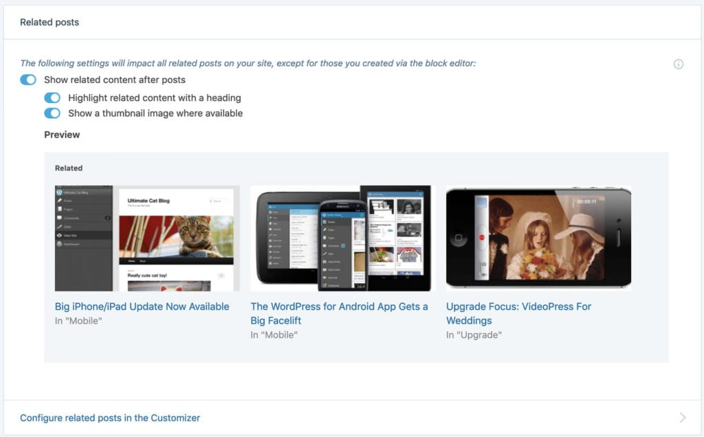 Related Post in the Jetpack Plugin - Moreno Collective