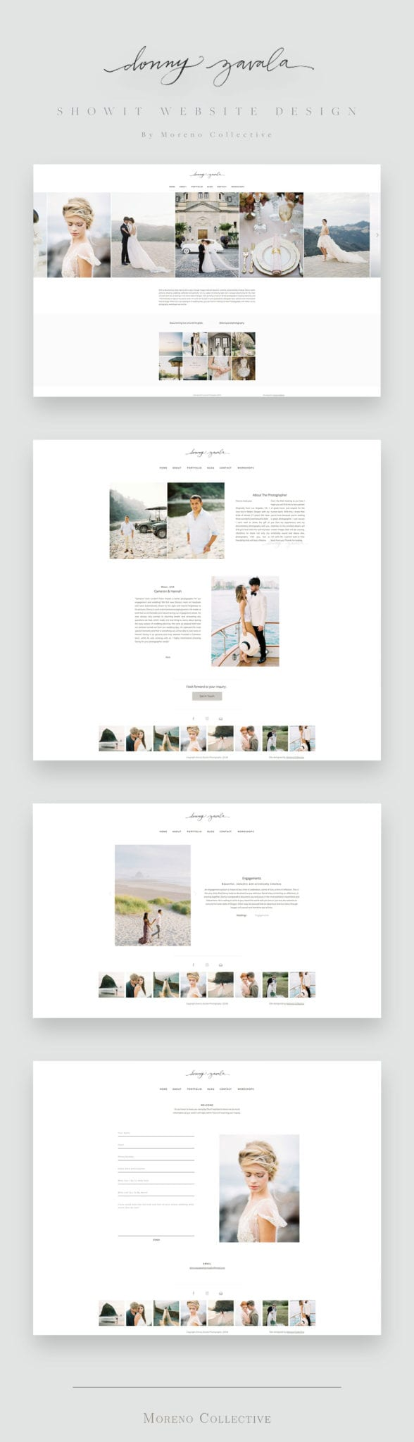 Showit Website Design for Donny Zavala Photography by Moreno Collective
