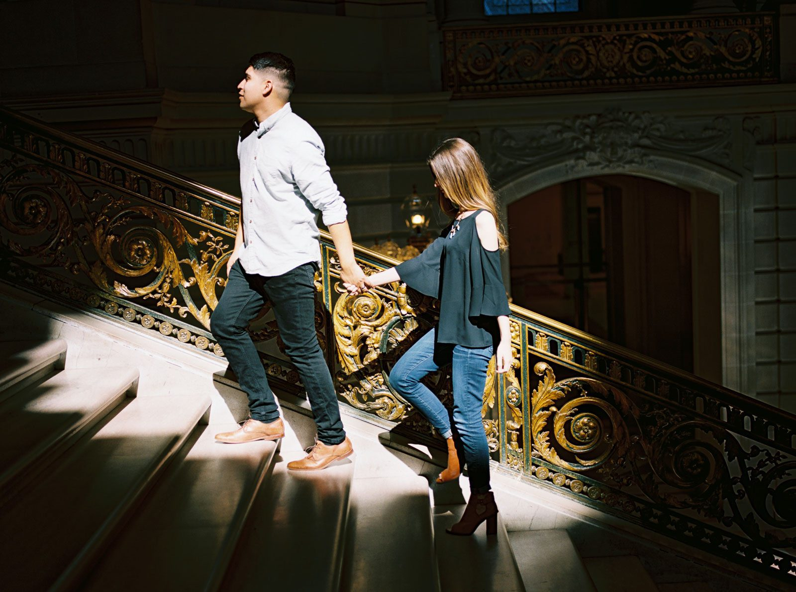 San Francisco Wedding Photographers | City Hall Engagement Session | Married Morenos