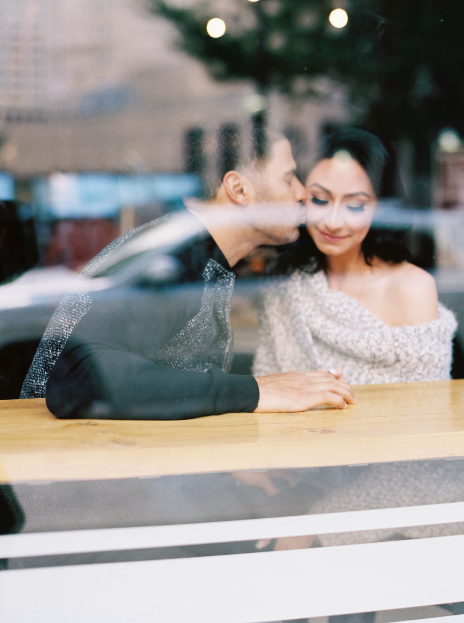 Coffee shop engagement session in Detroit -krmorenophoto