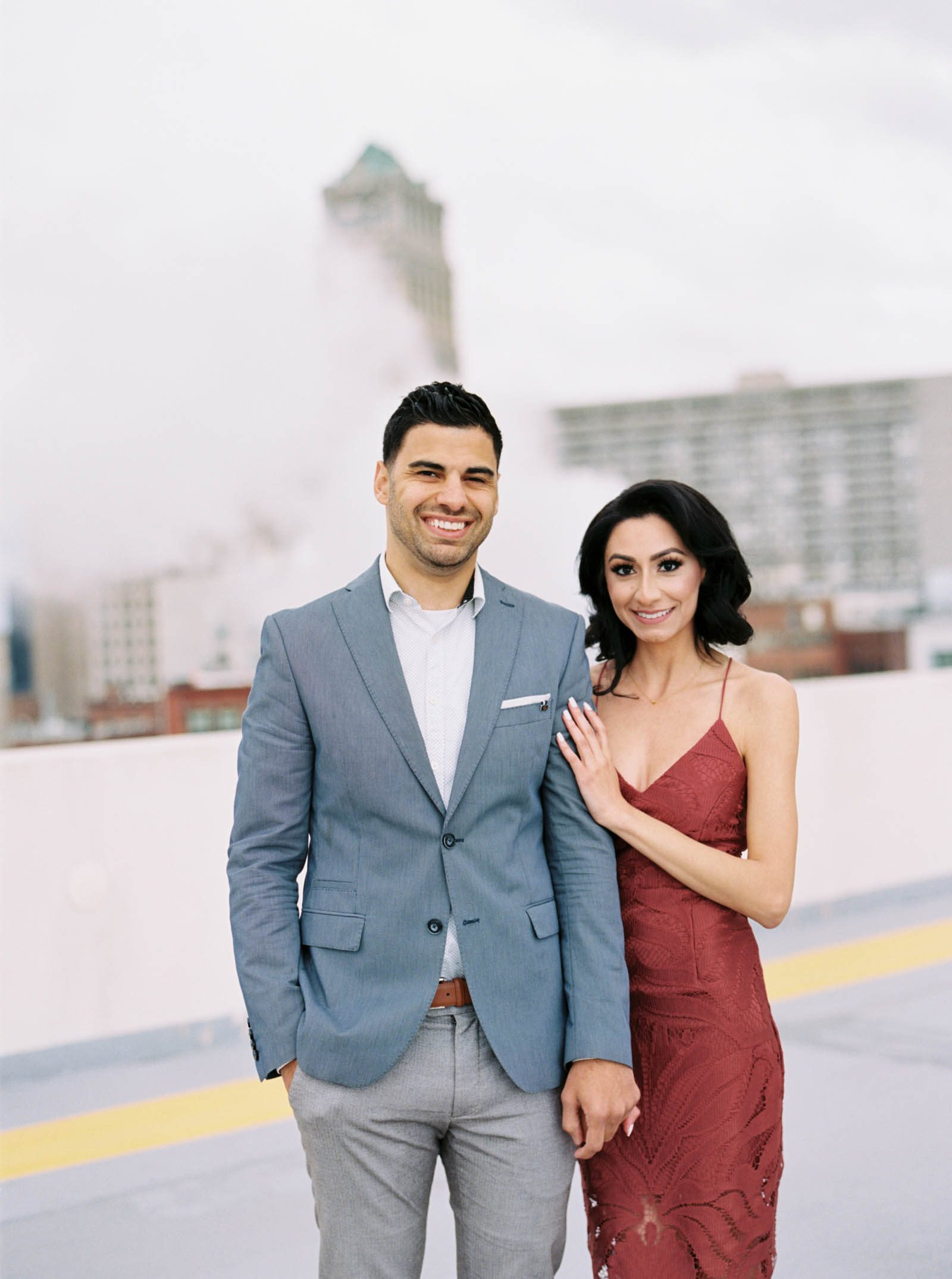 Detroit Rooftop Engagement photos- -krmorenophoto